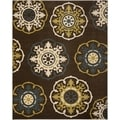 Newbury Snowfall Brown/ Blue Rug (8' x 10')