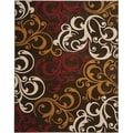 Newbury Scrolls Brown/ Gold Rug (8' x 10')