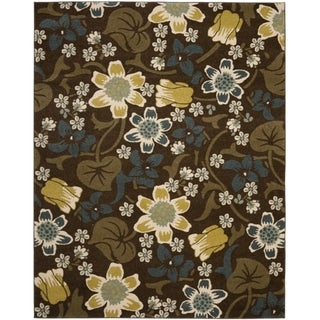 Safavieh Newbury Botanical Brown/ Yellow Rug (8' x 10')
