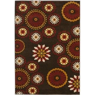Safavieh Newbury Gardens Brown/ Red Rug (5'1 x 7'6)
