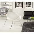 Nutshell White Vinyl Lounge Chair
