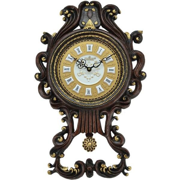 Antique Pendulum Wall Clock (23 x 14)