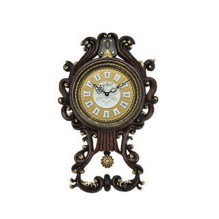 Antique Pendulum Wall Clock (23 x 14)