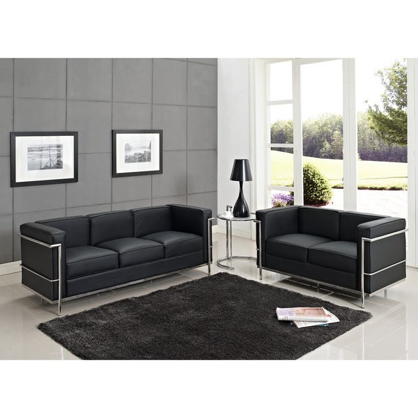 bridgette 3 piece black living room set