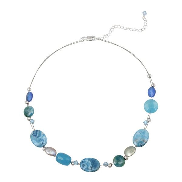 Glitzy Rocks Sterling Silver Multi-gemstone Necklace