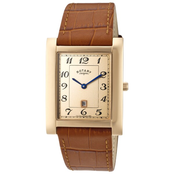 Rotary Men's Light Brown Genuine Leather Watch