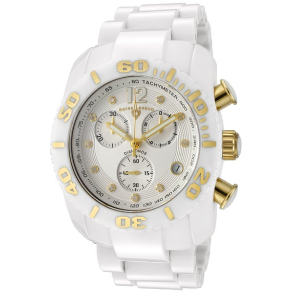 Swiss Legend Men's 'Commander' White High Grade Ceramic Watch