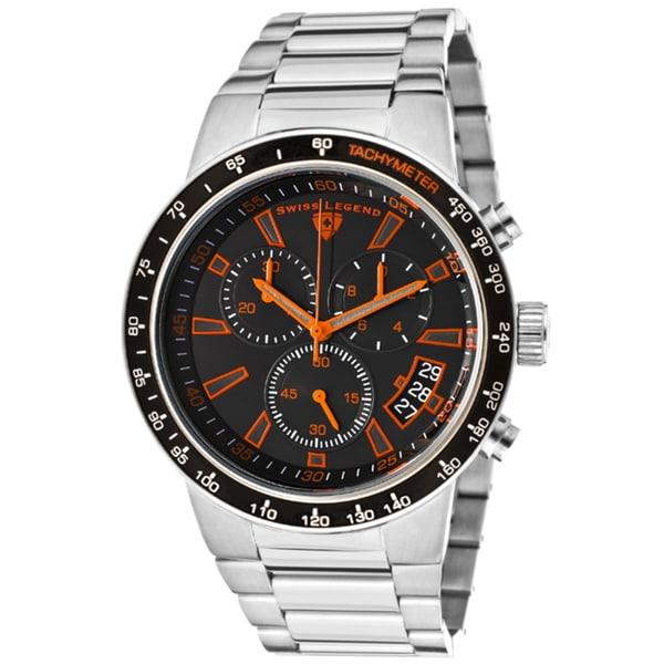Swiss Legend Men's 'Endurance' Gunmetal Ion-plated Stainless Steel Watch