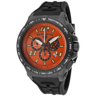 Swiss Legend Men's 'Sprint Racer' Black Silicone Watch