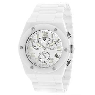 Swiss Legend Men's 'Throttle' White Ceramic Watch