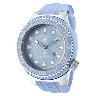 Swiss Legend Men's 'Neptune' Light Blue Silicone Watch
