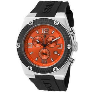 Swiss Legend Men's 'Throttle' Black Silicone Watch