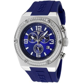 Swiss Legend Men's 'Throttle' Blue Silicone Watch