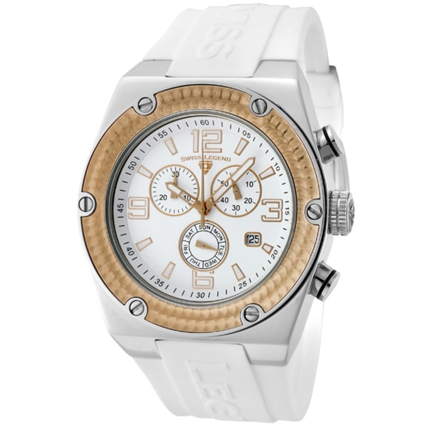 Swiss Legend Men's 'Throttle' White Silicone Watch