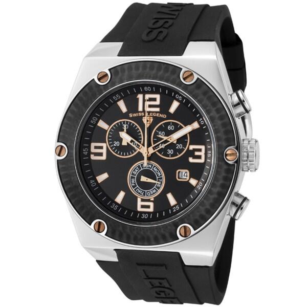 Swiss Legend Men's SL-30025-01-BB-RA Throttle Black Watch