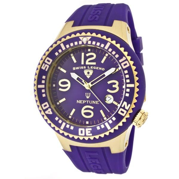 Swiss Legend Men's 'Neptune' Purple Silicone Watch