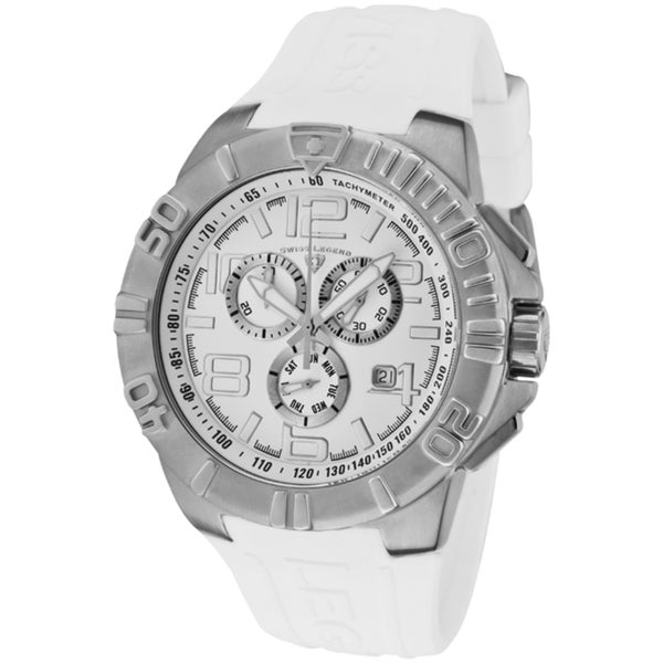 Swiss Legend Men's 'Super Shield' White Silicone Watch