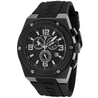 Swiss Legend Men's 'Throttle' Black Silicone Watch