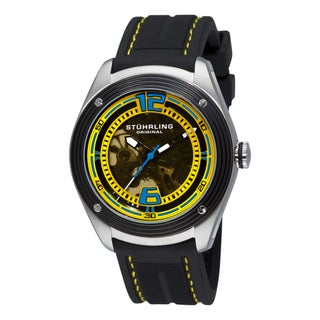 Stuhrling Original Men's 'Millennia Conquest' Black Rubber Watch