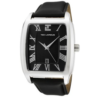 Ted Lapidus Men's Black Leather Watch