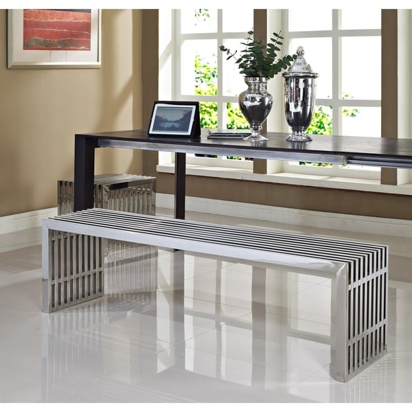 Gridiron Style Stainless Steel Small and Large Bench Set 9635771