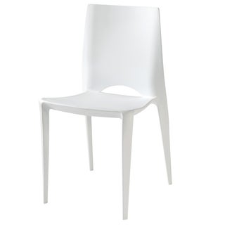 Amenity White Plastic Chair