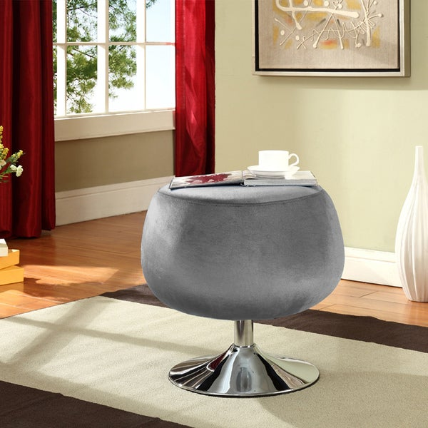 Silver Occasional Stool