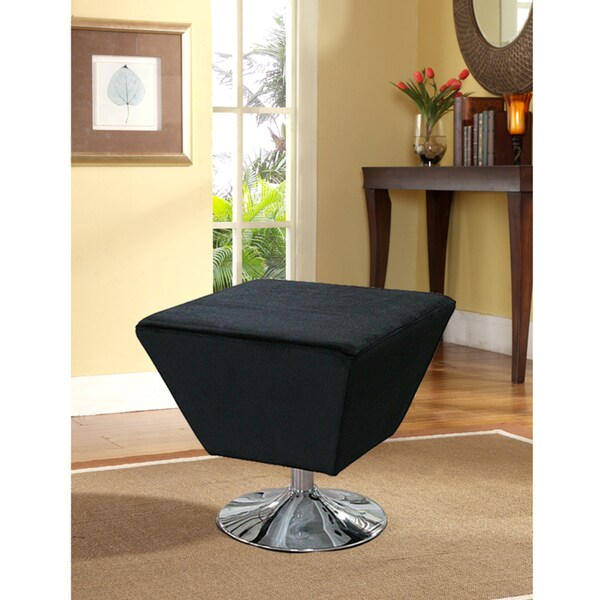 Black Finish Occasional Stool