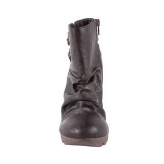 Jacobies by Beston Women's 'Tina-4' Brown Stiletto Bootie