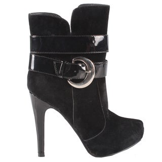 Jacobies by Beston Women's Black 'Pisa-13' Stiletto Ankle Bootie