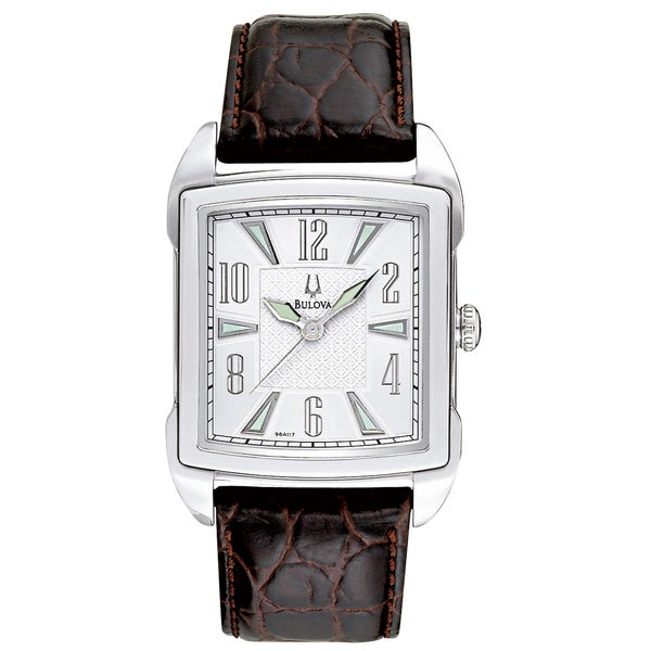 Bulova Men's Strap Collection Adventurer Silver Dial Watch