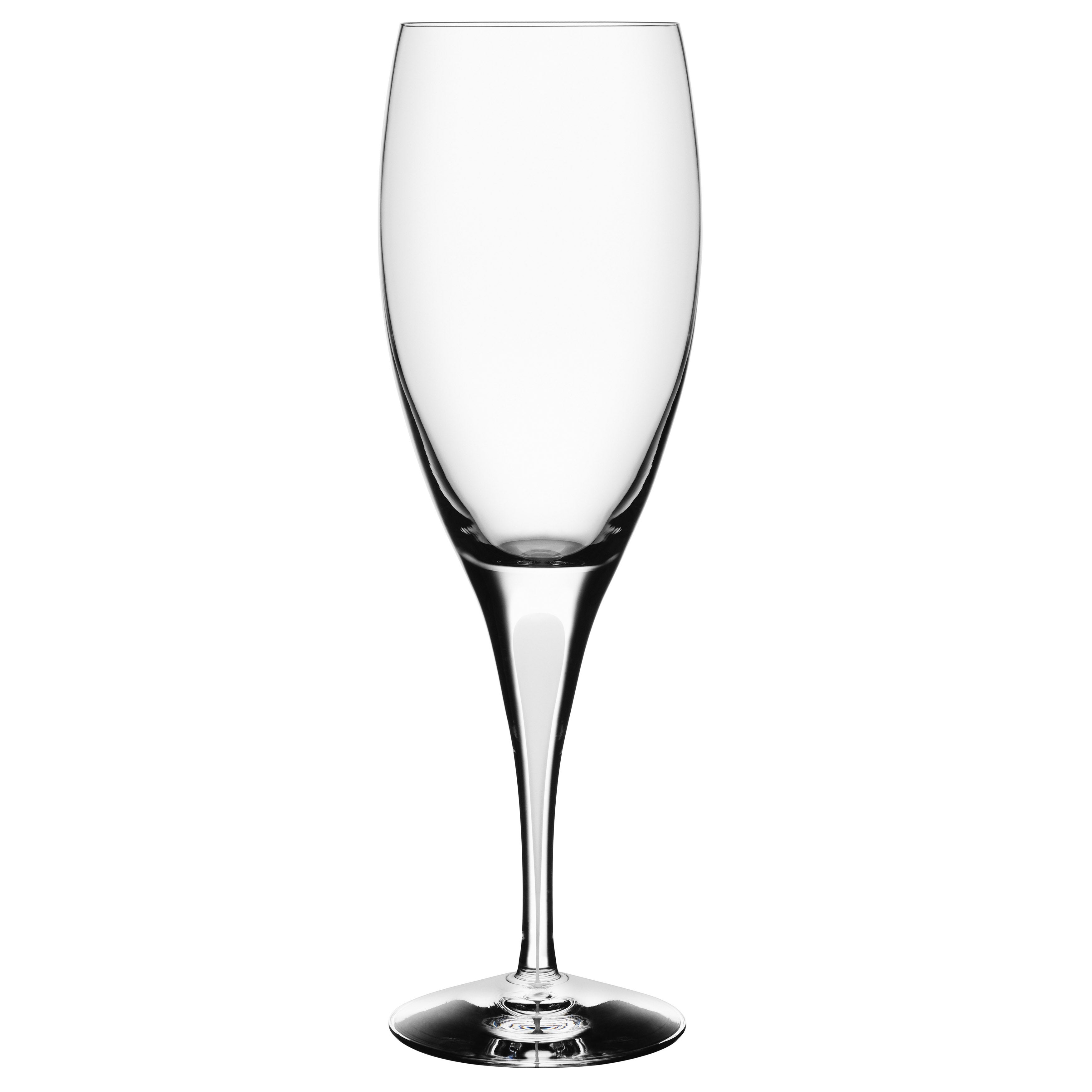 Orrefors Intermezzo Satin Wine Glass with White Drop