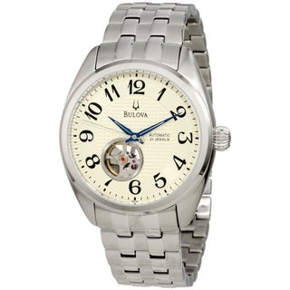 Bulova Men's Mechanical Cream Dial Automatic Watch