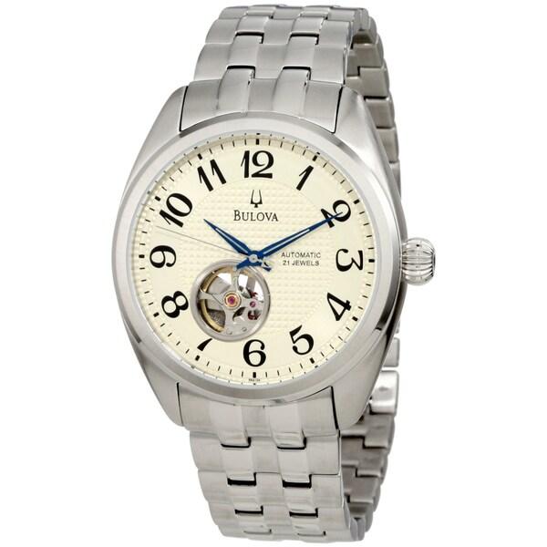 Bulova Men's Mechanical Cream Dial Automatic Watch