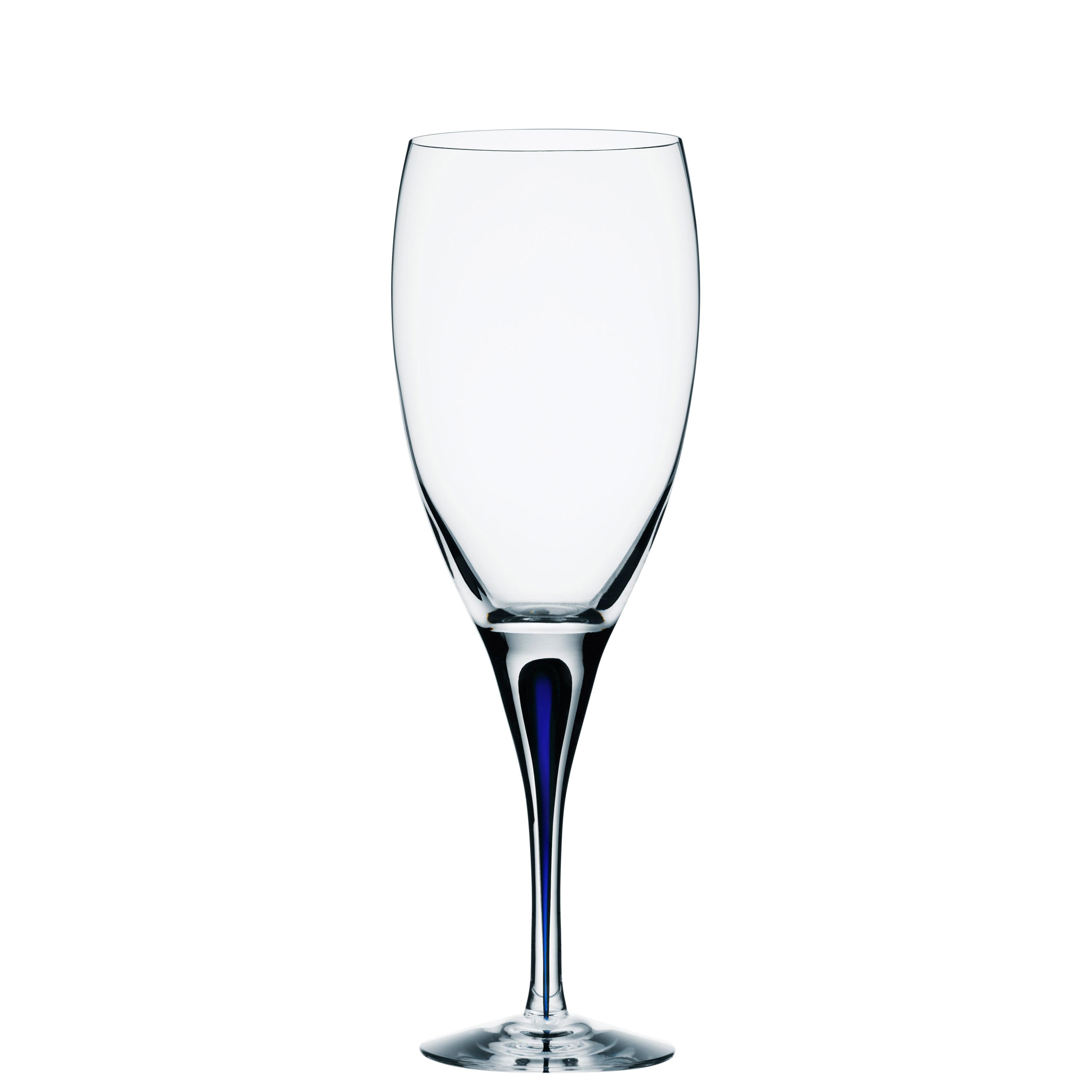 Orrefors Intermezzo Blue Wine Glass
