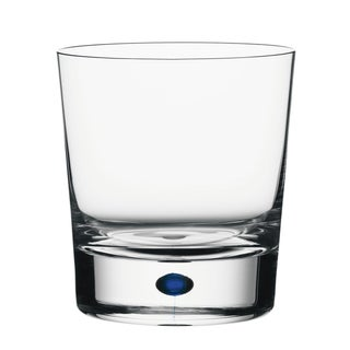 Orrefors Intermezzo Blue Double Old Fashion Glass
