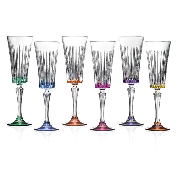 RCR Timeless Multicolor Champagne Glasses (Set of 6)