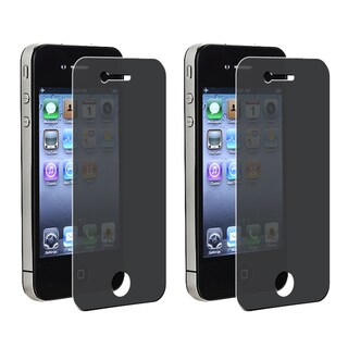 BasAcc Privacy Filter Screen Protector for Apple iPhone 4/ 4S (Pack of 2)