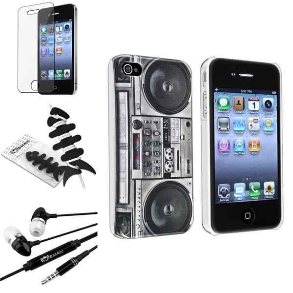 INSTEN Radio Case Cover/ Protector/ Headset/ Wrap Apple iPhone 4S