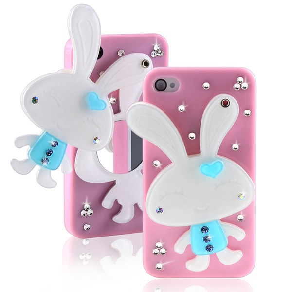 BasAcc Light Pink Rabbit Mirror Case for Apple iPhone 4/ 4S