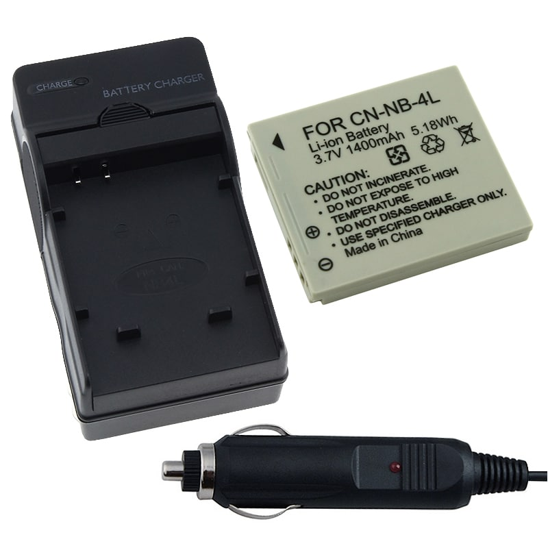 BasAcc Battery/ Charger for Canon NB-4L/ Powershot SD7780 IS