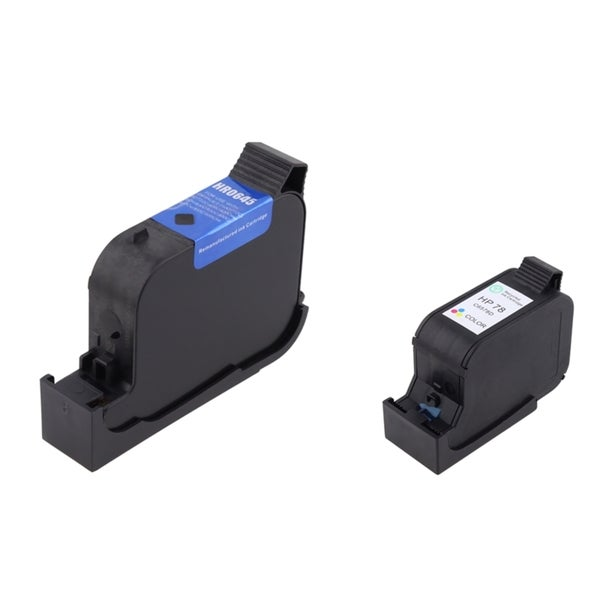 INSTEN HP 45/ 78 Black/ Tri-color Ink Cartridges (Set of 2) (Remanufactured)
