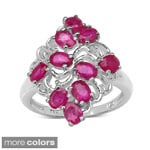 Malaika Sterling Silver 2.60ct TGW Ruby or Tanzanite Ring