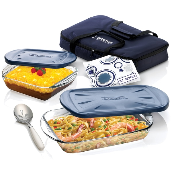 Anchor Hocking 6-piece Bake and Tote Set 9640924