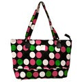 Jenni Chan Multi Dots 17-inch Polyester Laptop Tote with Zip Top