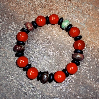 Pavcus Designs Carnelian Gemstone Stretch Bracelet