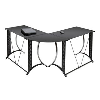 Calico Designs Monterey LS Black Powder-coated Steel Corner Desk