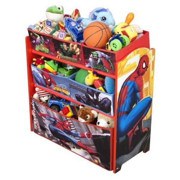 Delta Spiderman Multi-Bin Toy Organizer