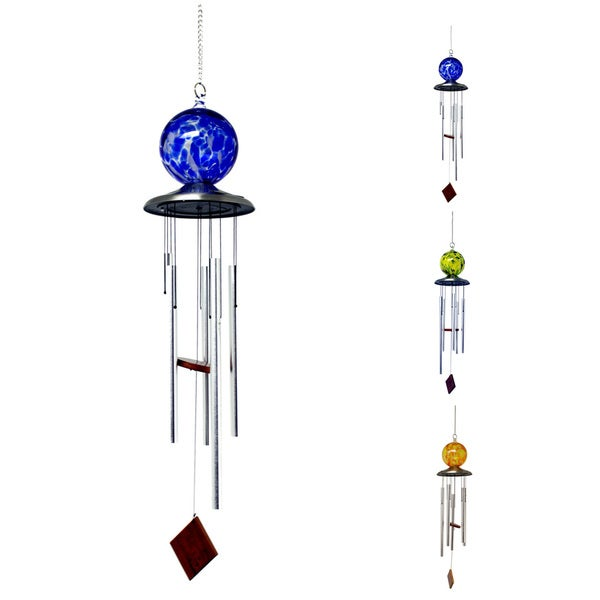 outdoor solar light post  stained glass solar post cap