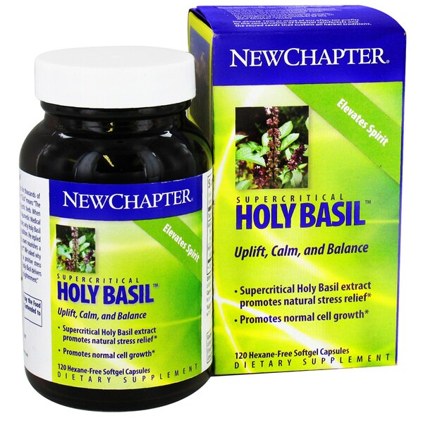 New Chapter Holy Basil Force 120 Softgel Dietary Supplement